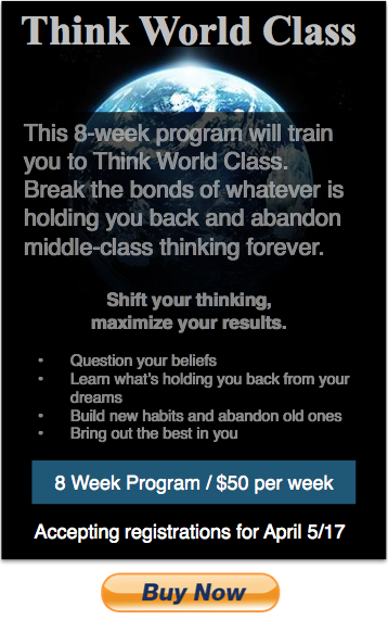 Think World Class 8 week individual program